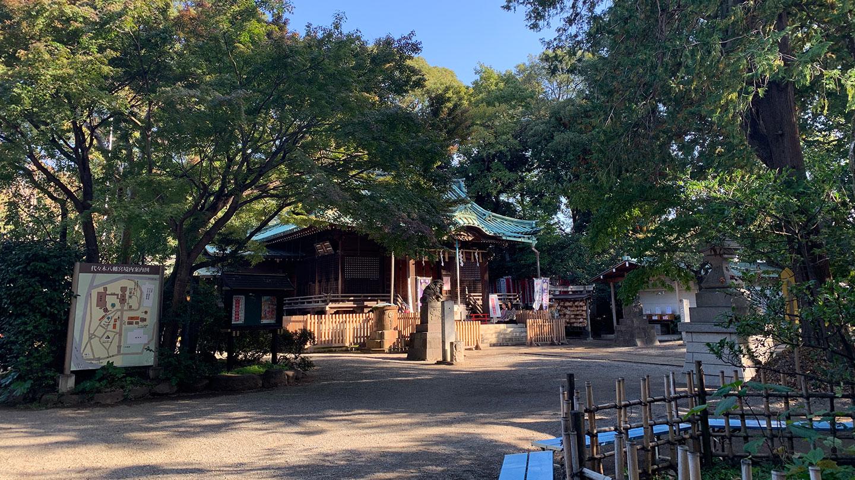 代々木八幡宮の社殿1