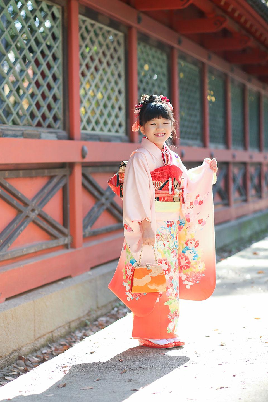 根津神社の七五三写真
