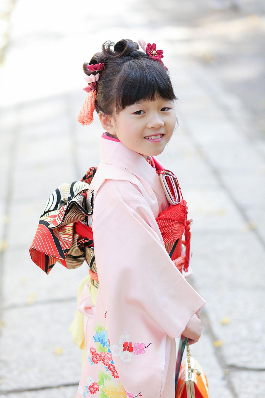 7歳の七五三を文京区の根津神社で