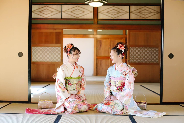 和室と着物の姉妹