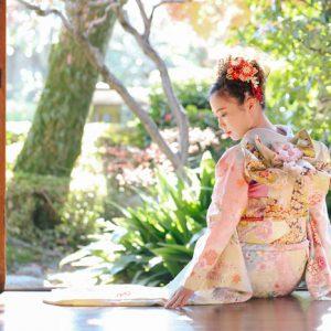 成人式(振袖)の前撮り撮影 / 埼玉の川口市にある美しい庭園にて