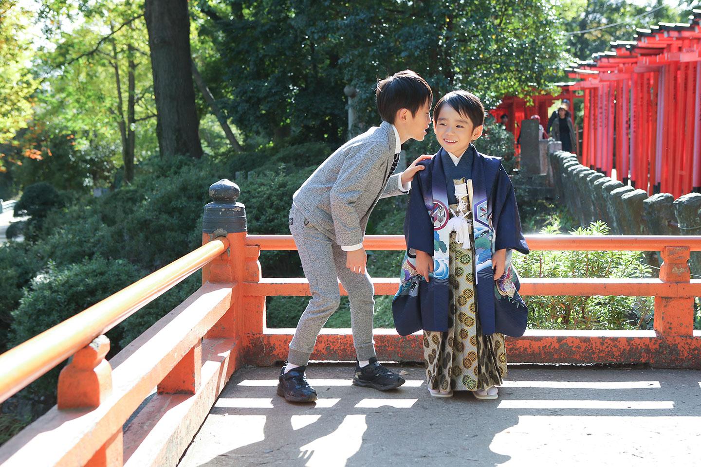 根津神社の乙女稲荷社で七五三
