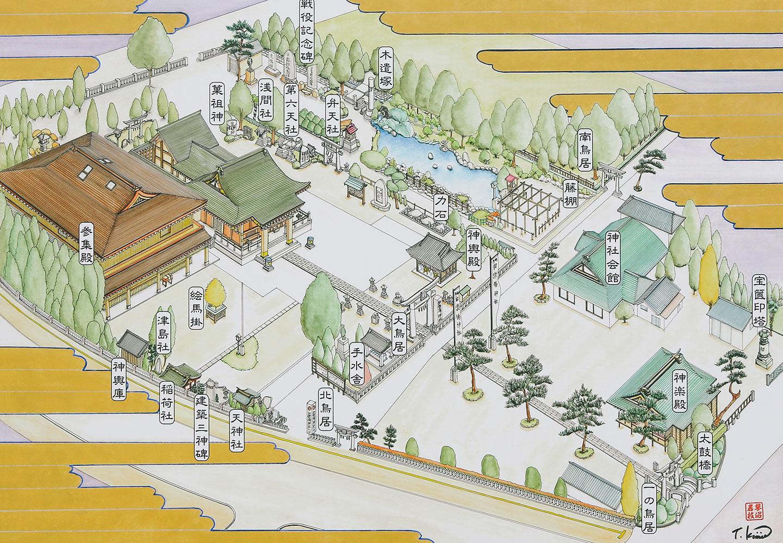 和楽備神社の境内マップ(地図)