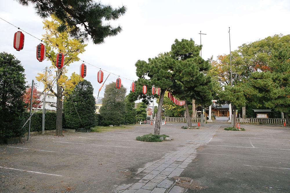 和樂備神社の無料駐車場