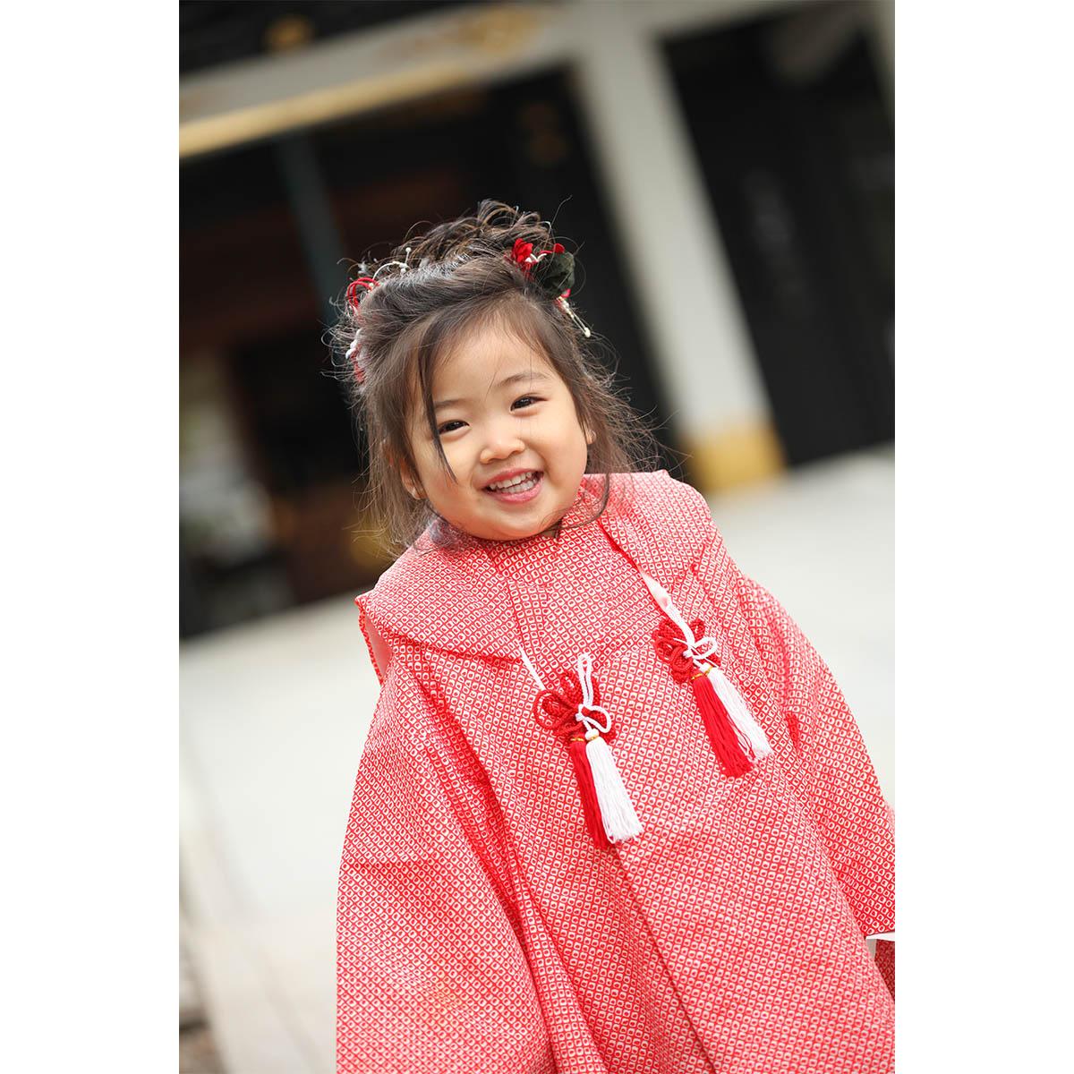王子神社へ3歳の七五三の出張撮影