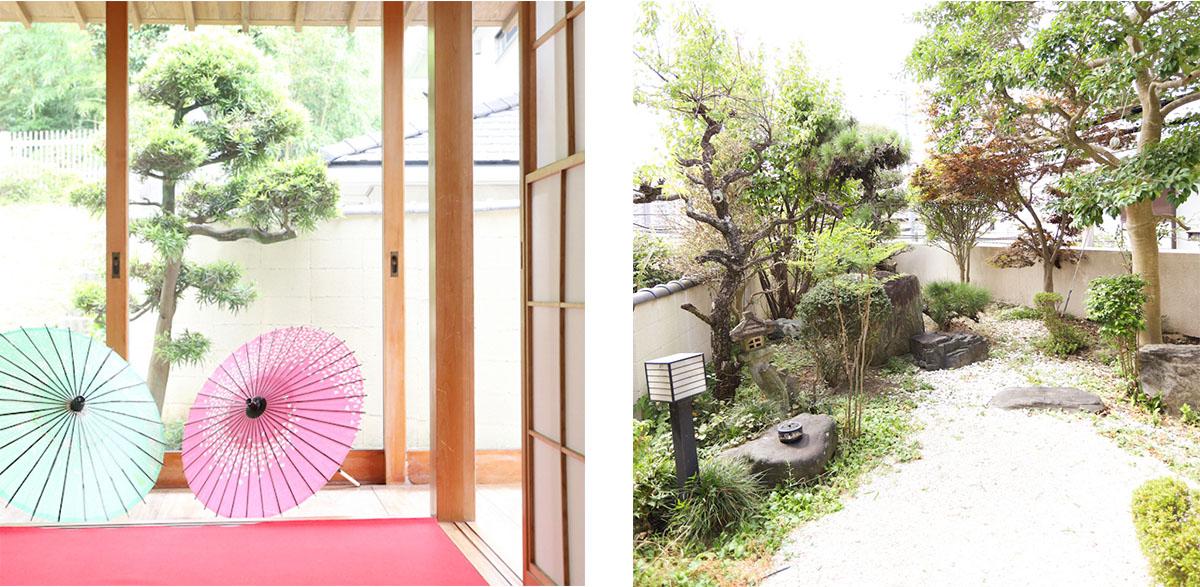 和室と庭園