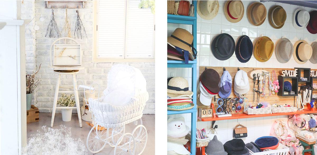 撮影小物や衣装の帽子