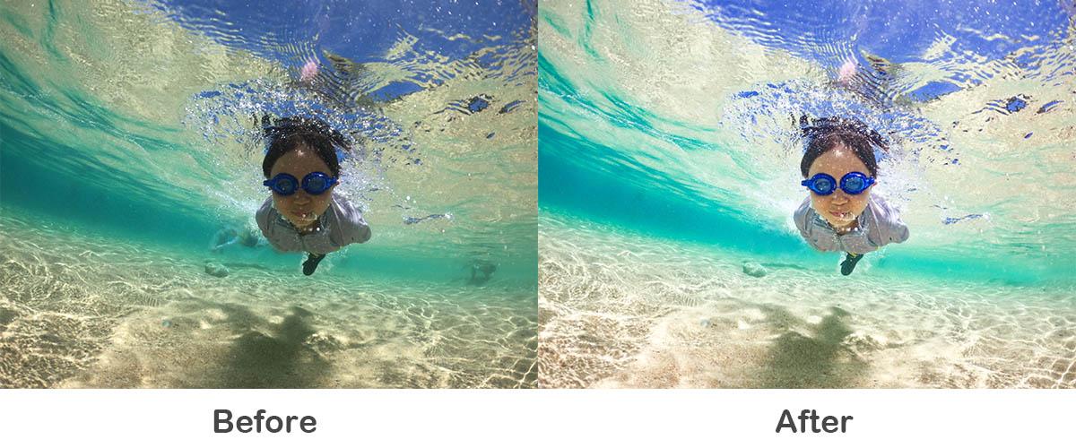 水中写真のレタッチ