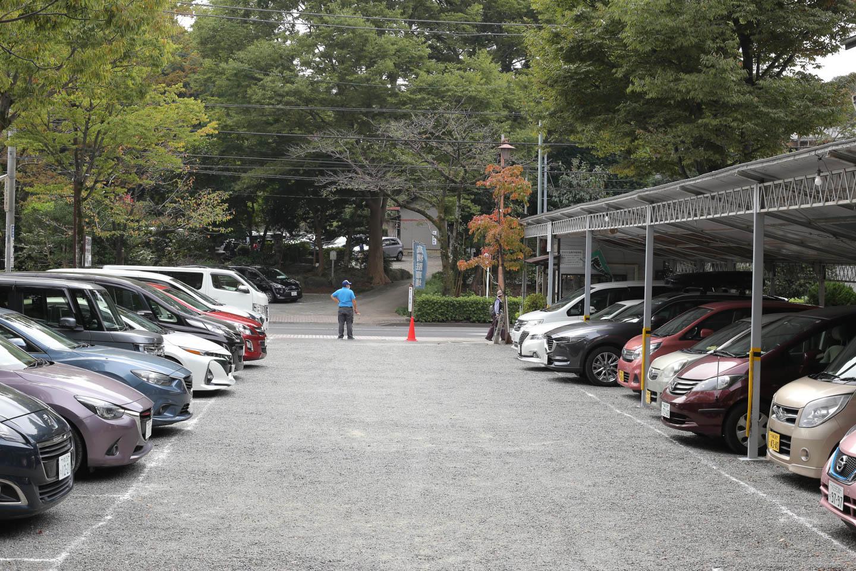 深大寺の駐車場