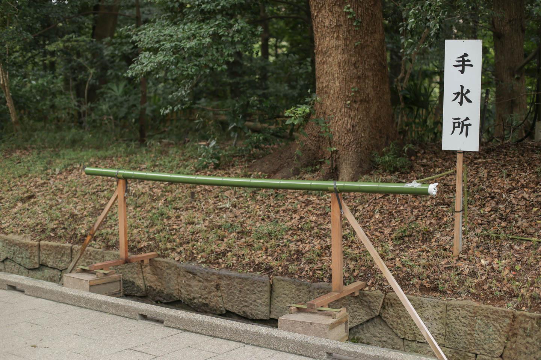 明治神宮の仮設の手水舎