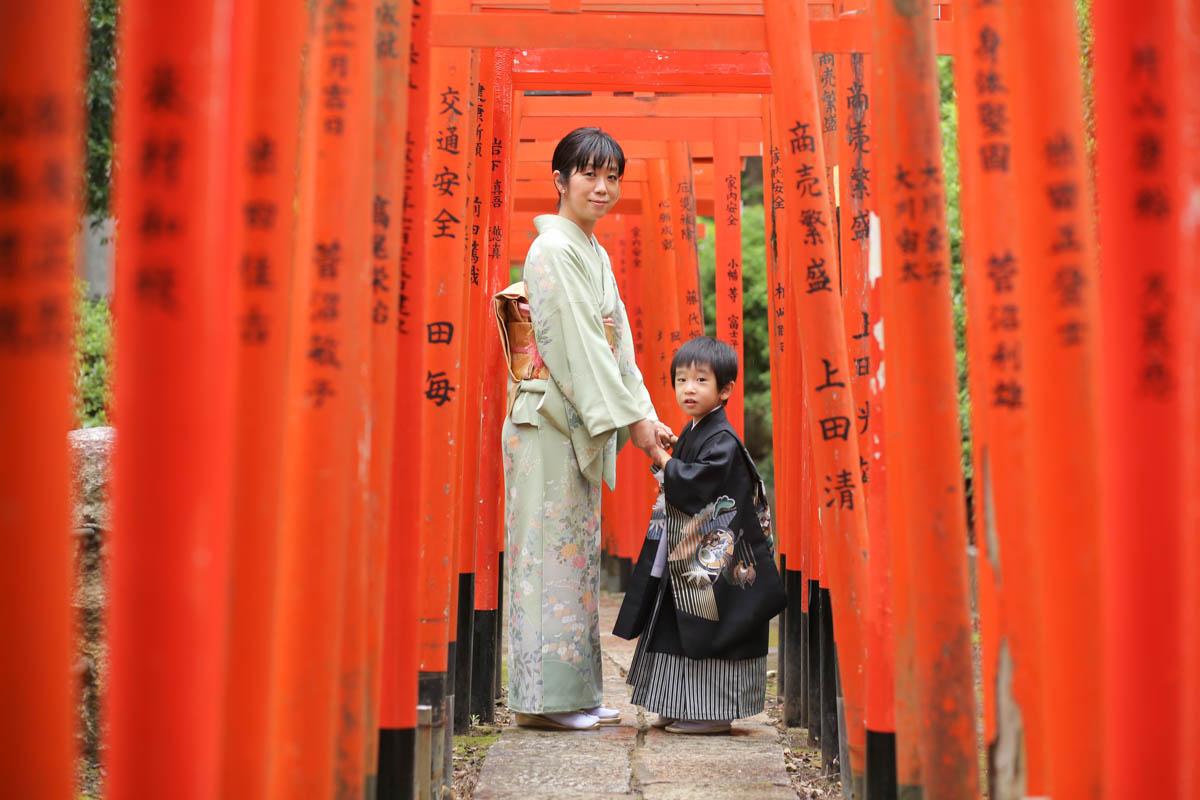 根津神社で出張撮影1