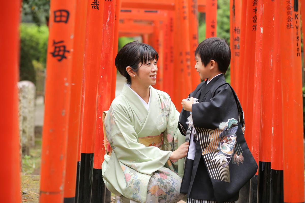 根津神社で出張撮影2