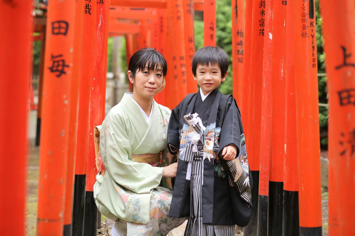 根津神社で出張撮影3
