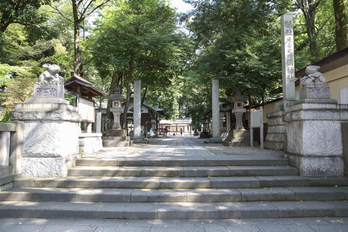 調神社 入口の階段