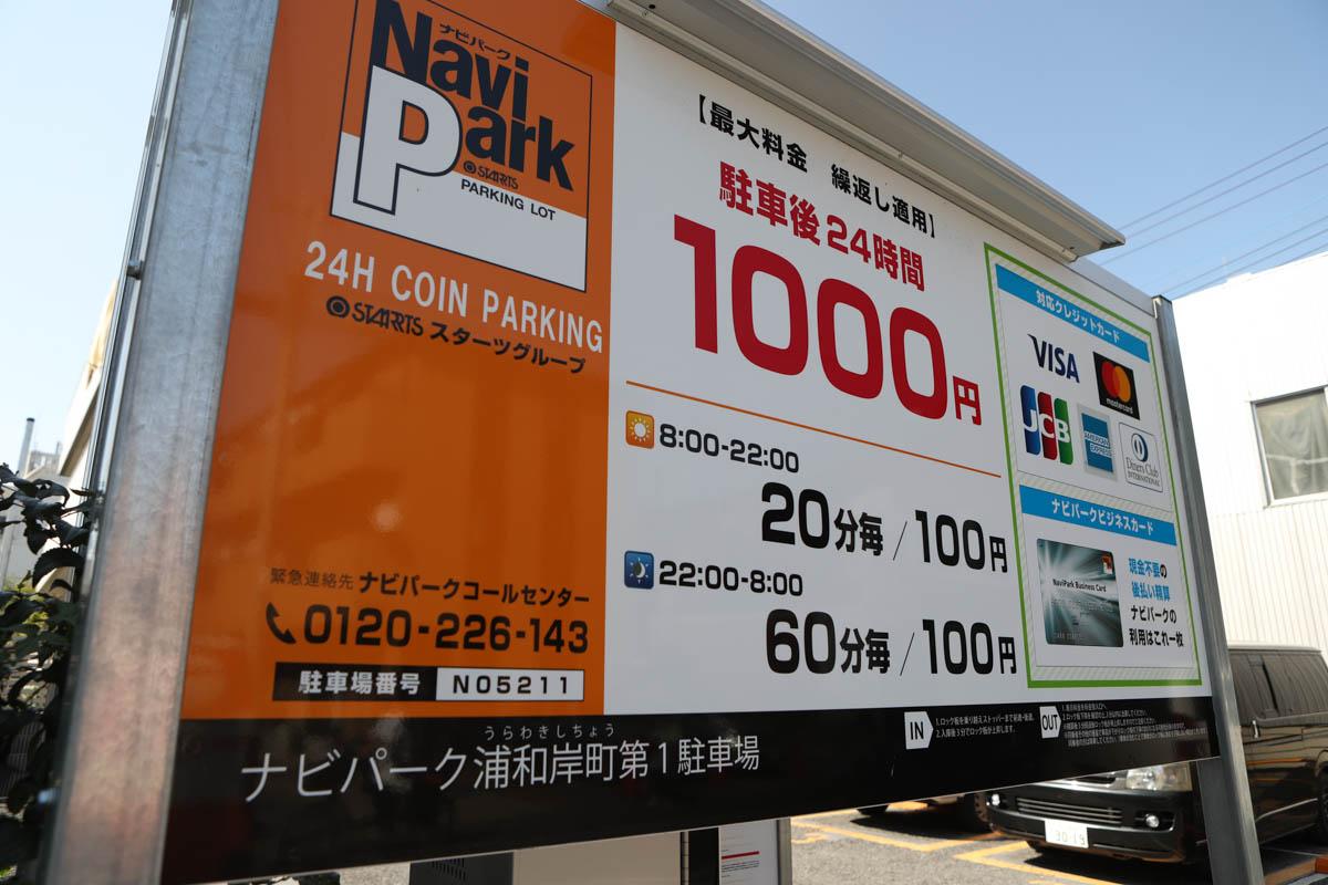 調神社の近隣のコインパーキング