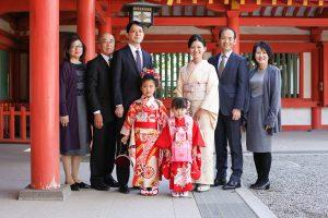大宮氷川神社で撮影した家族写真