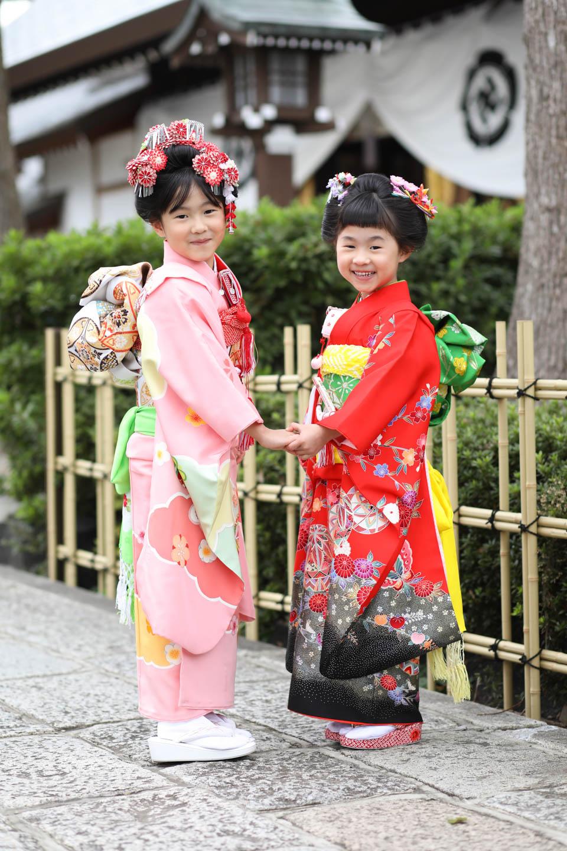松陰神社に出張撮影 帯が見えるポーズ