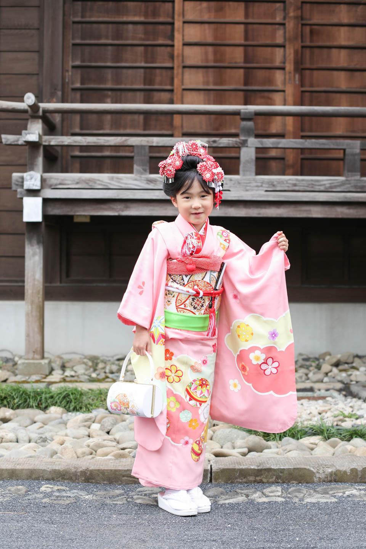 松陰神社 7歳女の子の七五三
