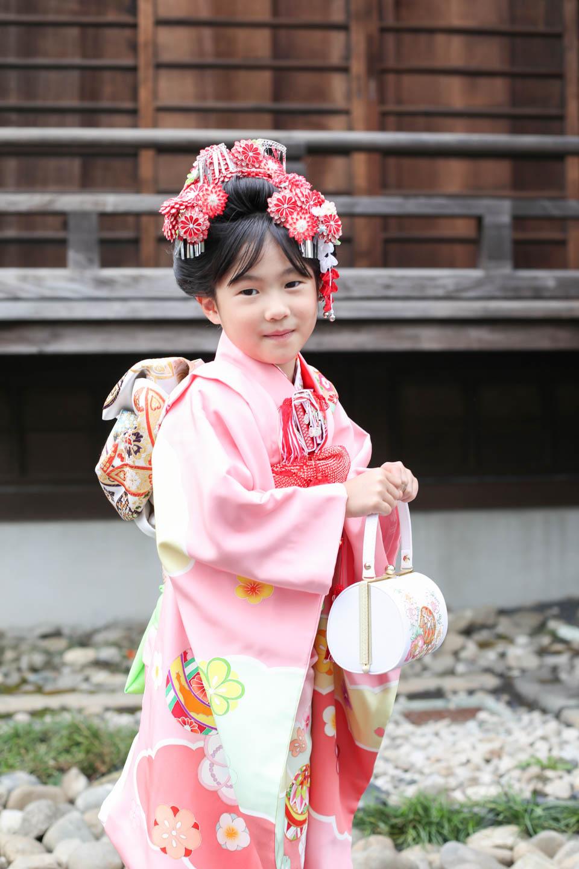 松陰神社 7歳女の子の七五三2