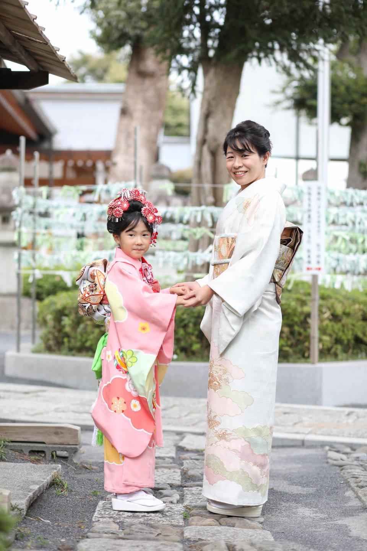 松陰神社に出張撮影 ママとツーショット