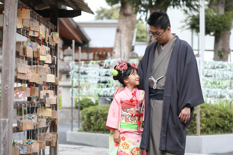 松陰神社に出張撮影 パパとツーショット