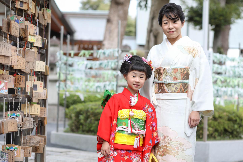 松陰神社に出張撮影 ママとツーショット2