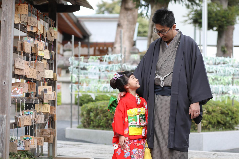 松陰神社に出張撮影 パパとツーショット2