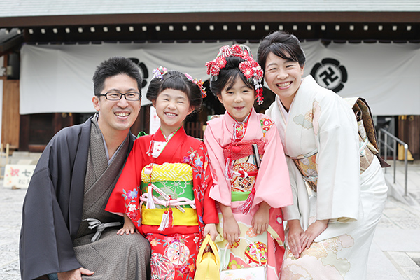 松陰神社(世田谷区)で七五三の出張撮影
