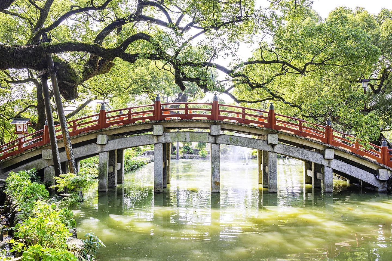 太宰府天満宮の美しい太鼓橋
